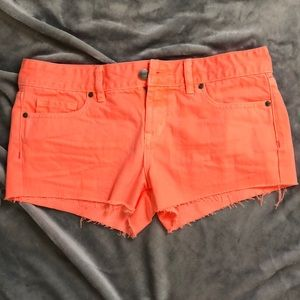 Victoria's Secret Pink neon orange denim shorts